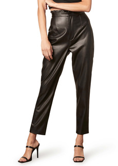 BB Dakota LA Woman Paperbag Waist Faux Leather Pants