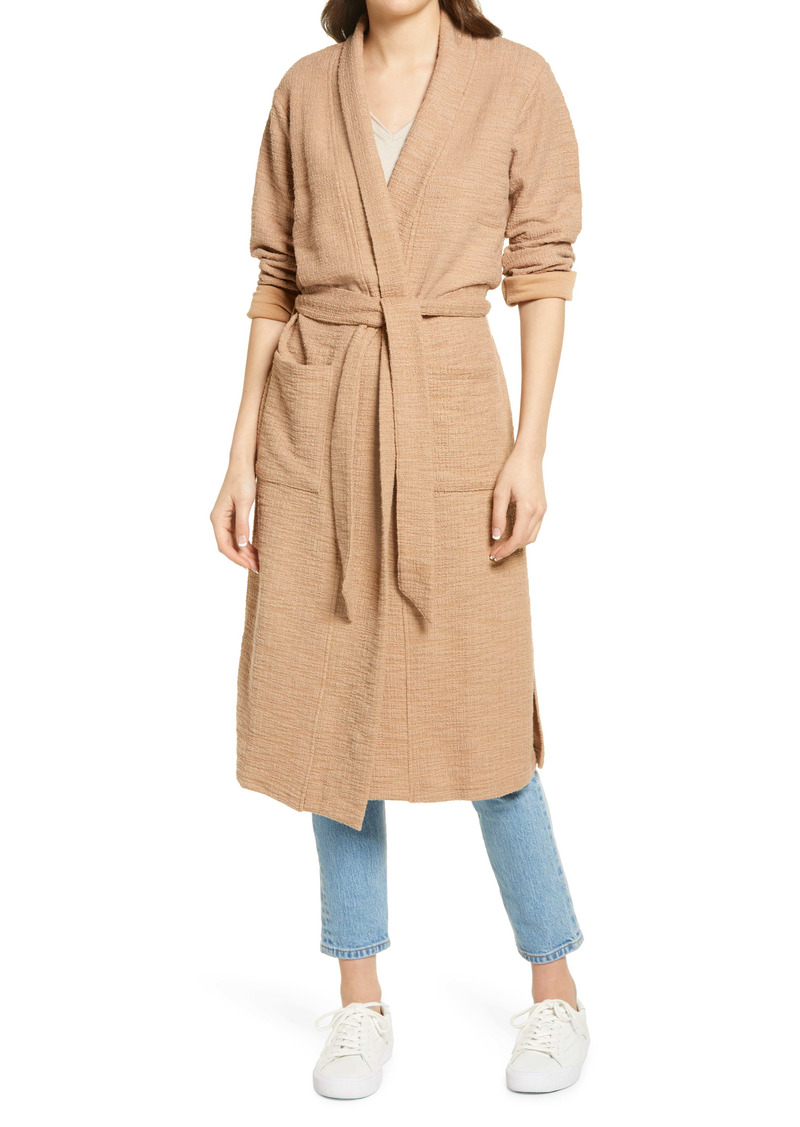 BB Dakota Let's Hang Textured Cotton Blend Coat