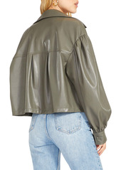 BB Dakota Love on Balloon Sleeve Faux Leather Jacket