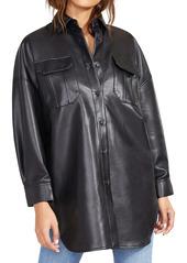 BB Dakota Oversize Faux Leather Jacket