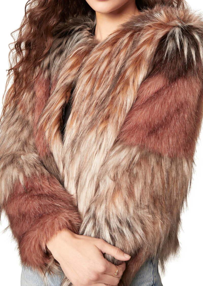 BB Dakota Patch My Drift Faux Fur Jacket
