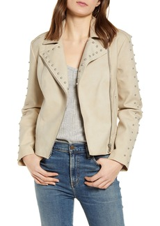 BB Dakota True Stud Faux Suede Moto Jacket