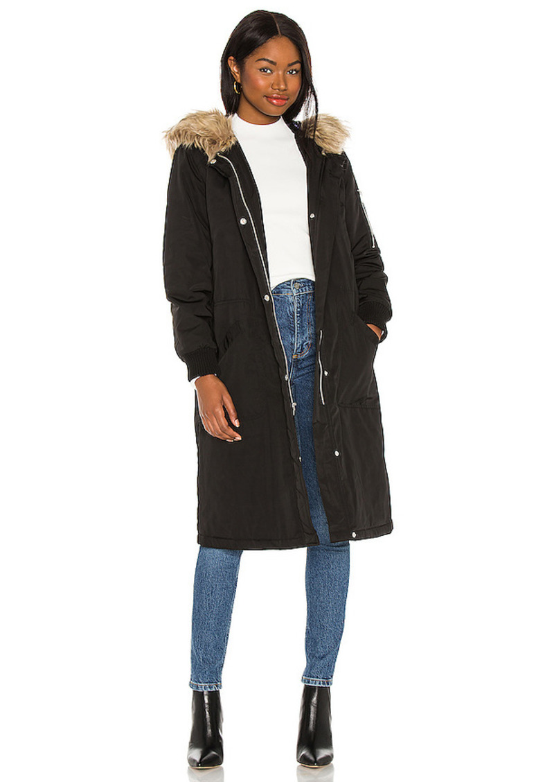 BB Dakota by Steve Madden Winter Takes All Faux Fur Coat