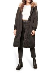 BB Dakota Winter Takes All Faux Fur Hooded Waterproof Coat