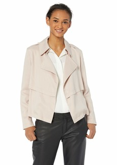 BB Dakota Womens Double Agent Tencel Cropped Trench Jacket parchment small