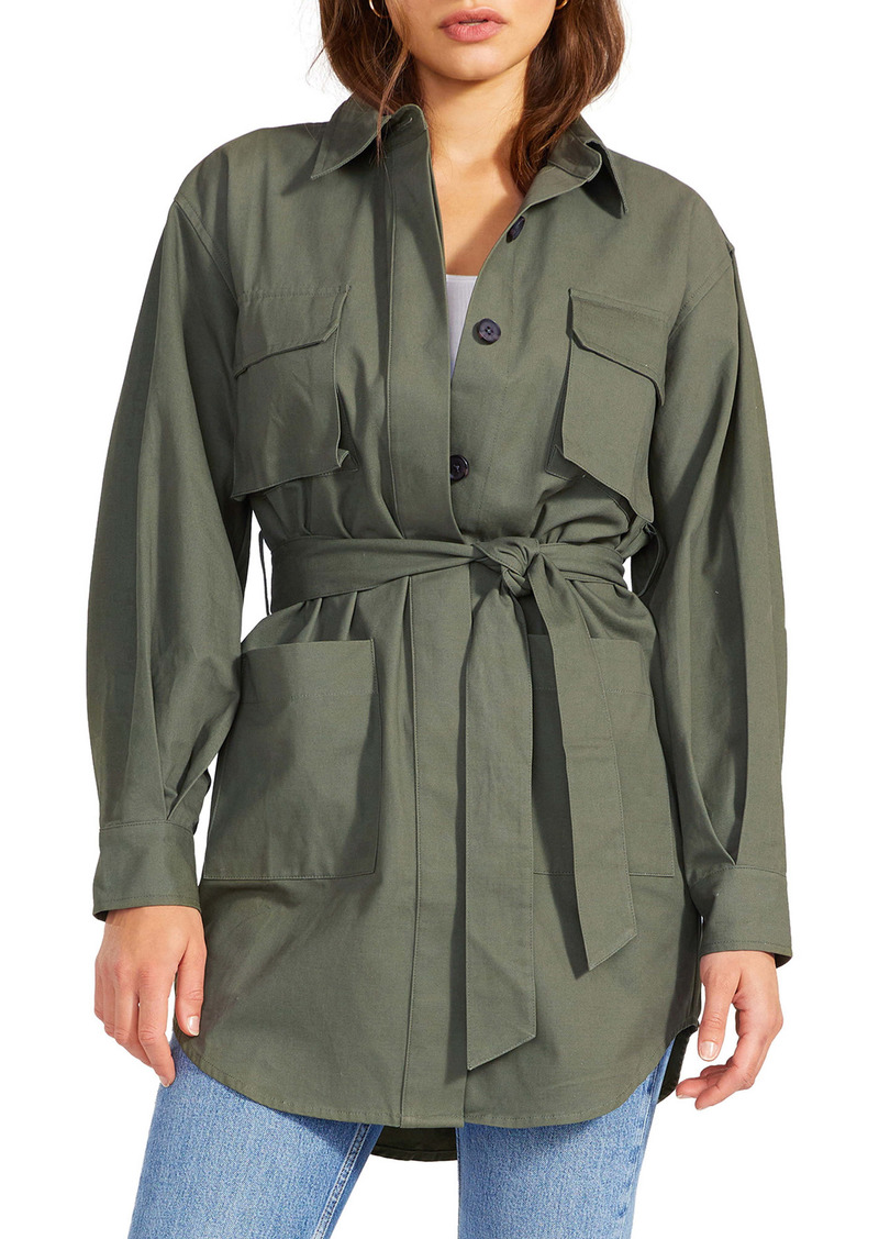 BB Dakota Work For It Belted Military Jacket