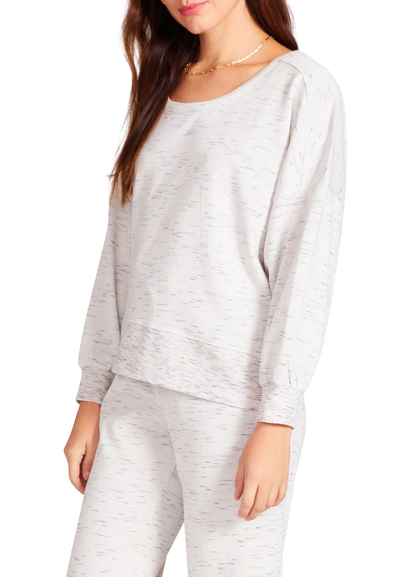 BB Dakota by Steve Madden Cross My Mind Back Cutout Sweatshirt