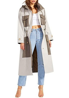 BB Dakota Say You Twill Trench - Cotton Twill Color-Blocked Trench