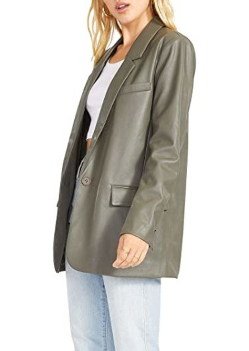 BB Dakota Who's in Charge Blazer - Vegan Leather Blazer