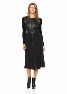 BCBG Max Azria BCBGMax Azria Women's Faux Leather Vest Dress  M