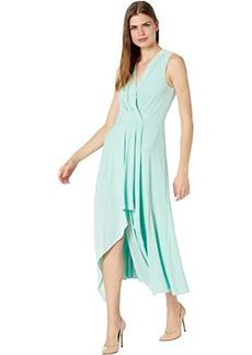 BCBG Max Azria Matte Jersey Asymmetrical Hem Cocktail Dress