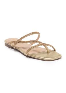 bebe Asymmetrical Rhinestone Sandal