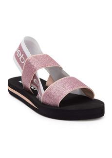 bebe Atena Glitter Logo Slingback Sandal