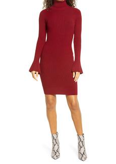 bebe Turtleneck Long Sleeve Sweater Dress