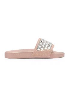 bebe Flashie Rhinestone Embellished Slide Sandal
