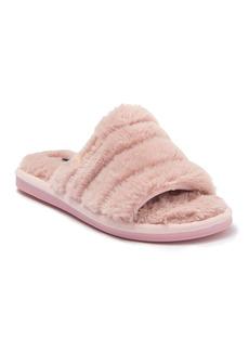 bebe Sadia Faux Fur Slide Slipper