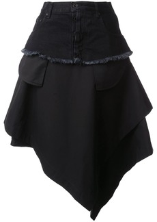 Ben Taverniti Unravel Project asymmetric loose skirt