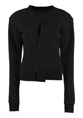 Ben Taverniti Unravel Project Cotton Crew-neck Sweatshirt