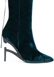 Ben Taverniti Unravel Project Broken heel velvet boots