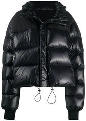 Ben Taverniti Unravel Project contrast-panel logo puffer jacket