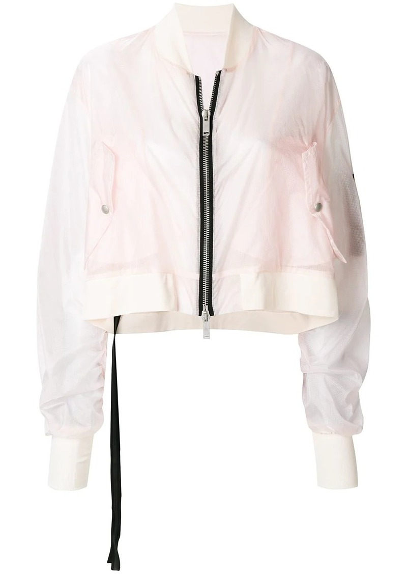Ben Taverniti Unravel Project cropped bomber jacket