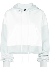Ben Taverniti Unravel Project cropped colour block hoodie