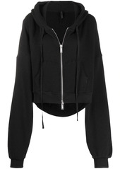 Ben Taverniti Unravel Project cropped zip-up hoodie
