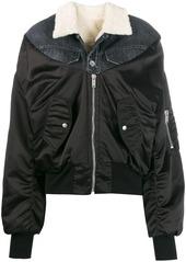 Ben Taverniti Unravel Project denim-panelled bomber jacket