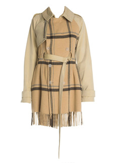 Ben Taverniti Unravel Project Double-Breasted Mackintosh Trench