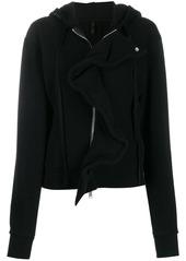 Ben Taverniti Unravel Project frill-trim zipped hoodie