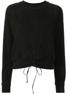 Ben Taverniti Unravel Project lace front sweatshirt