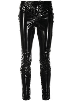 Ben Taverniti Unravel Project lace-up cropped trousers