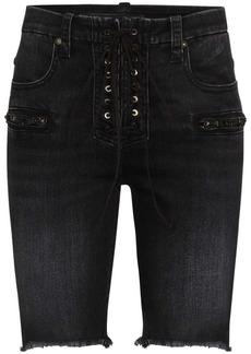 Ben Taverniti Unravel Project lace-up knee length shorts