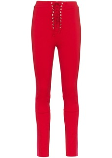 Ben Taverniti Unravel Project lace up skinny trousers