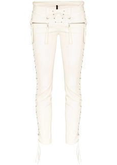 Ben Taverniti Unravel Project lace-up skinny trousers