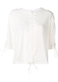 Ben Taverniti Unravel Project lace-up T-shirt
