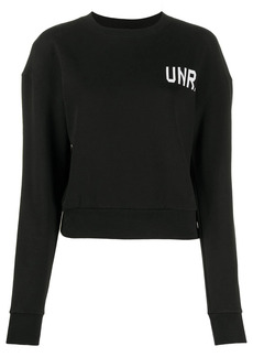 Ben Taverniti Unravel Project logo-print sweatshirt
