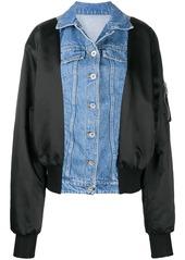 Ben Taverniti Unravel Project contrast panel bomber jacket