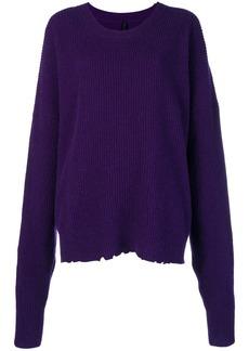 Ben Taverniti Unravel Project oversized distressed crew-neck sweater
