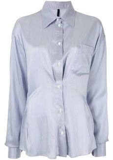 Ben Taverniti Unravel Project ruched detail shirt