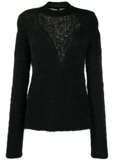 Ben Taverniti Unravel Project slim-fit inlay knit jumper