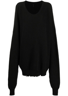 Ben Taverniti Unravel Project slouchy long-sleeved jumper