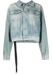 Ben Taverniti Unravel Project stone-wash backwards denim jacket