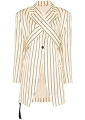 Ben Taverniti Unravel Project stripe wrap-front blazer