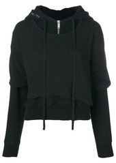Ben Taverniti Unravel Project T-shirt layered hoodie