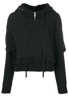 Ben Taverniti Unravel Project T-shirt layered hoodie