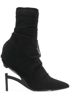 Ben Taverniti Unravel Project tulle layered ankle boots