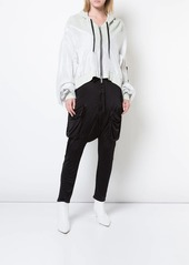 Ben Taverniti Unravel Project zip cropped hoodie