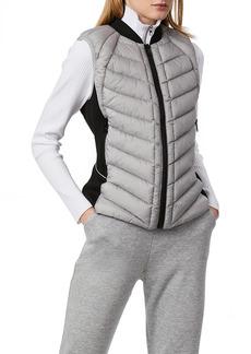 Women's Bernardo Neoprene Trim Channel Quilted Vest