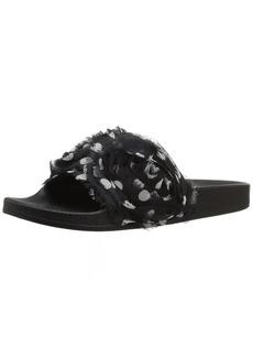Betsey Johnson Women's Cutie Slide Sandal Black Polar dot  M US